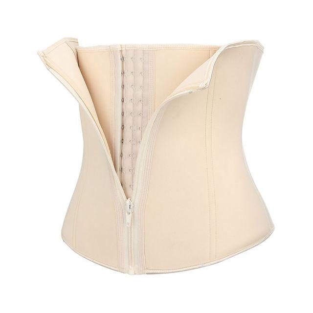 Waist Trainer Belt Dual Layer Quick Anti-sweat Zipper Button Cincher Trimmer Slimmer Body Shaper Strap For Sports Fitness yoga 3