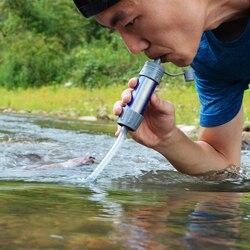 2 szt. Filtr wody na zewnątrz System filtracji wody słomy filtr do wody do gotowości awaryjnej Camping podróżowanie z plecakiem