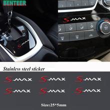 2 قطعة/5 قطعة/10 قطعة الفولاذ المقاوم للصدأ سيارة ملصق لفورد smax S MAX