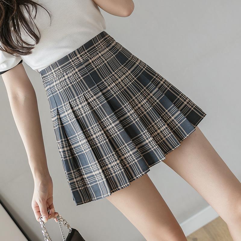 QRWR Fashion 2021 Kawaii Summer Women Skirts High Waist Cute Sweet Girl's Pleated Skirt Korean Style Mini Skirts for Women 5