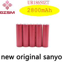 GZSM 18650 battery for Sanyo UR18650ZT rechargeable 2800mAh 3.7V 6A For cigarette