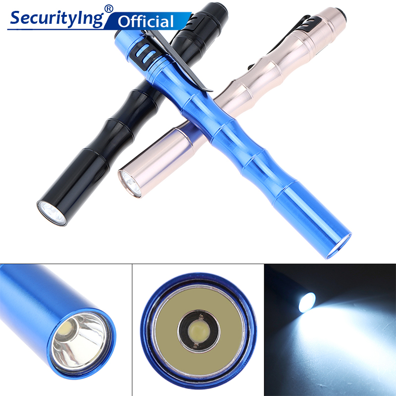 1000LM Mini Portable Super Bright LED Flashlight Battery-Powered Handheld Pen Pocket Torch for Camping Outdoor  Emergency