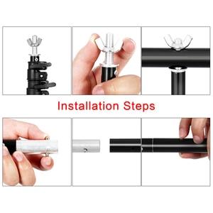 Image 4 - Fotografie Foto Studio T Vorm Achtergrond Stand Frame Ondersteuning Systeem Kit Voor Video Chroma Key Groen Scherm Met stand