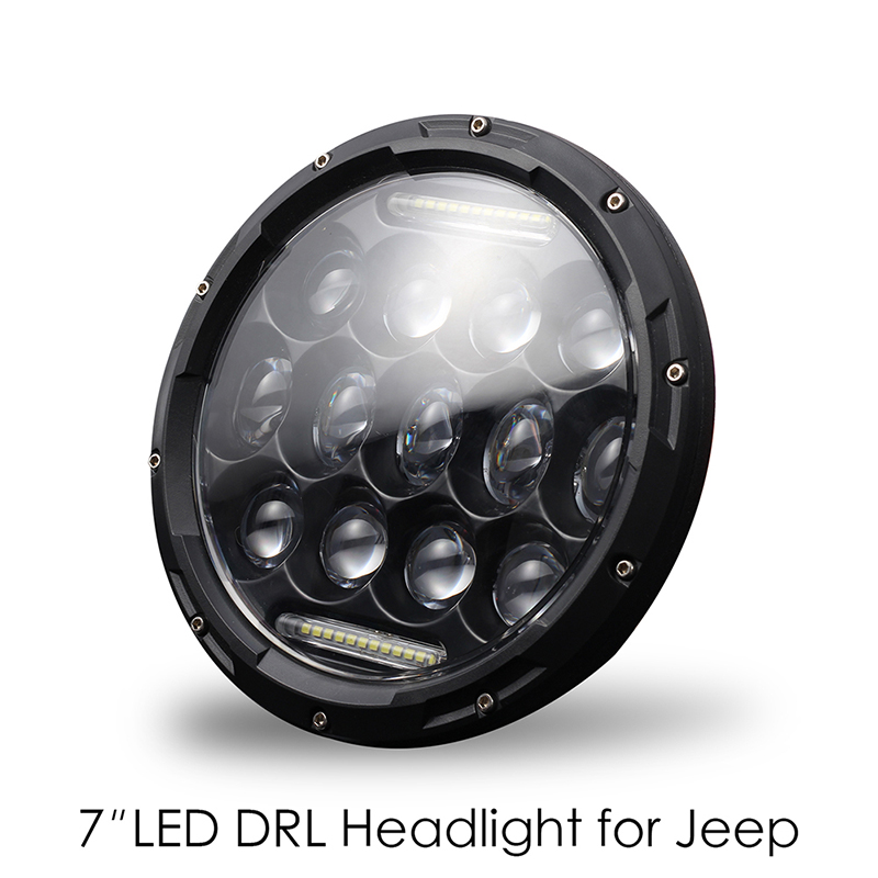 High Power H4/H13 7 Inch 300w Round LED Headlights Turn Signal Light White DRL Outdoor travel supplies