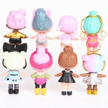 Brand New 8 Pcs/set  lol dolls toys for girls surprise gift baby doll girls toys doll lol surprises kids birthday gift