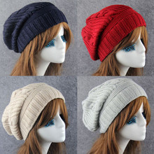 купить New Korean Winter Hats For Women Men Bonnet Oversized Slouch Twist Hat Thick Warm Caps Mens Casual Knitted Beanie Cap по цене 247.5 рублей