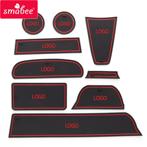 Image 4 - Smabee 抗パッドカーアクセサリーカップマットのための Lada グランタインテリアノンスリップマットアクセサリードアパッド 9 個/16 個カースタイリングステッカー
