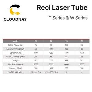 Image 5 - Cloudray reci w2/t2 90w diâmetro de madeira da embalagem da caixa do tubo do laser do co2 de 100w. 80mm/65mm co2 laser gravura máquina de corte s2 z2