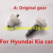 الأصلي 30 الأسنان موتور مرآة الرؤية الخلفية البلاستيك والعتاد لشركة هيونداي توكسون سوناتا SANTAFE كيا جديد كارينز K3 K5 Opirus فيلا سيارة