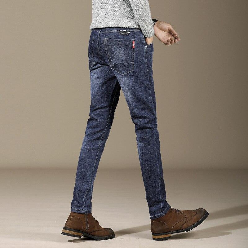 [] Autumn And Winter Straight-Cut Jeans Comfortable Casual Elasticity Slim Models Sportsman Men's Trousers 1 PCs Color 705