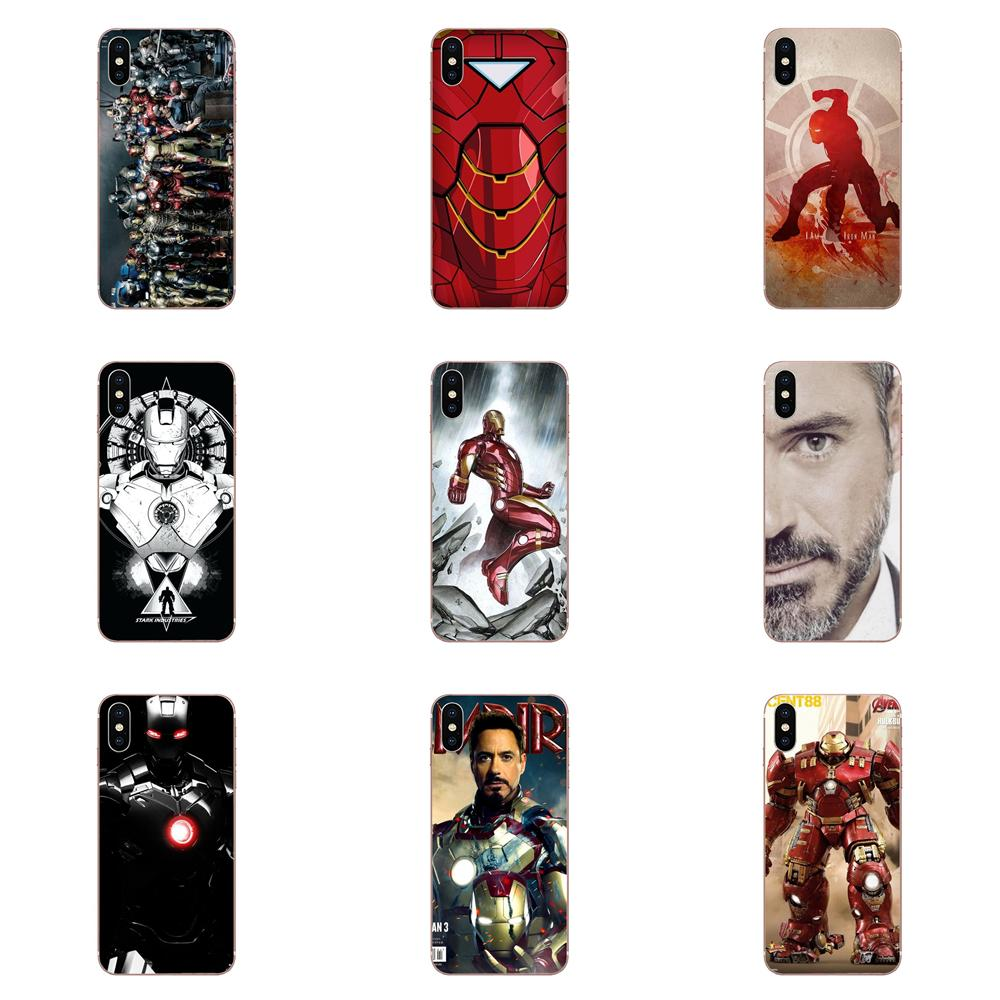 Skin Thin Cell Case Iron Man Robert Downey Jr For Xiaomi Mi3 Mi4 Mi4C Mi4i Mi5 Mi 5S 5X 6 6X 8 SE Pro Lite A1 Max Mix 2 Note 3 4 image