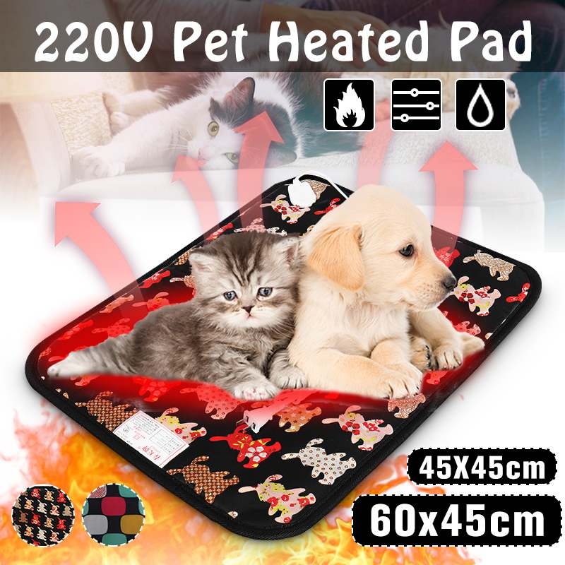 3 Level Pet Dog Cat Electric Heater Waterproof Adjustable Heated Mat Pet Heating Pad Winter Heated Blanket Carpet Animals Bed