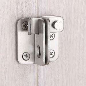 Turn On Left / Right Brief Simple Bolt Anti-theft Security Door Thick Stainless Steel Thicken Bolt Locker Lock Hasp