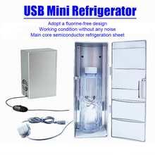 10W 5V 2A Car USB Mini Refrigerator Automoble Portable Freezer Warmer Cooler Camping Fridge 125x85x250mm Icebox Car Office Use