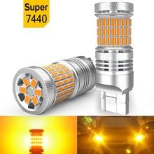 2PCS LED Canbus Car 7440 W21W Car Signal Lamp LED Turn Signal Light for BMW E46 F10 X5 E53 E70 E90 E38 E60 E87 E92 F31 F11 E30