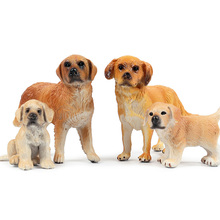 Small Size Golden Retriever Animal Figure Collectible Toys Dog Animal Action Figures Kids Plastic Cement Toys