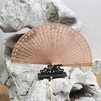 As One es Suzhou Classical Hollow Out Sandalwood Fan In National Customs Gift Fan Sandalwood Fan Wenwan Arts And Crafts Folding