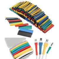 Mangas de Cable de Tubo termorretráctil, conjunto de envoltura de alambre, tubo Termocontraíble ignífugo 127/164/328/530/1060 Uds