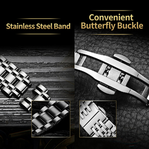 Image 5 - Lavaredo Stainless Steel Classic Series Transparent  Movement Steampunk Men Mechanical Skeleton Watches Top Brand Luxury A5