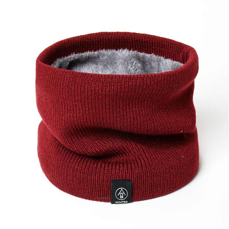 Năm 2020 Thời Trang Nữ Dệt Kim Khăn Chắc Chắn Cashmer-Giống Như Mùa Đông Snood Khăn Choàng Cổ Nữ Len Nam Lót Lông Dày Unisex Nam Cổ scarfs Nhẫn
