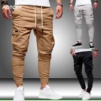 Spring Men's Cargo Pants Casual Sports Sweatpants Drawstring  Men Brand Long Trousers Army Joggers Pants pantalon homme 2020 New