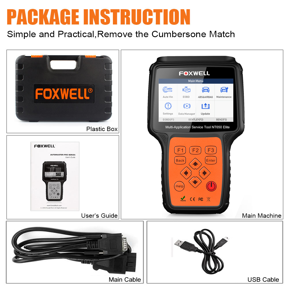 Image 5 - Foxwel NT650 Elite OBD2 Code Reader Scanner Engine ABS Airbag EPB Oil TPMS 13 Reset OBD 2 Diagnostic Tool OBD Automotive Scanner-in Engine Analyzer from Automobiles & Motorcycles on
