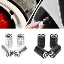 4 pçs nova moda estilo do carro roda redonda tampas de válvula pneu para mazda axela 2 3 5 6 CX-3 CX-5 CX-7 CX-9 MX-5