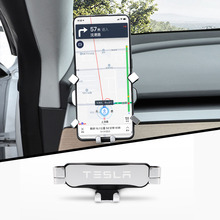 LQY nwe car Phone Holder Car Cell Phone Holder Left and right Bracket for Tesla Model 3 2017-2020 accessories
