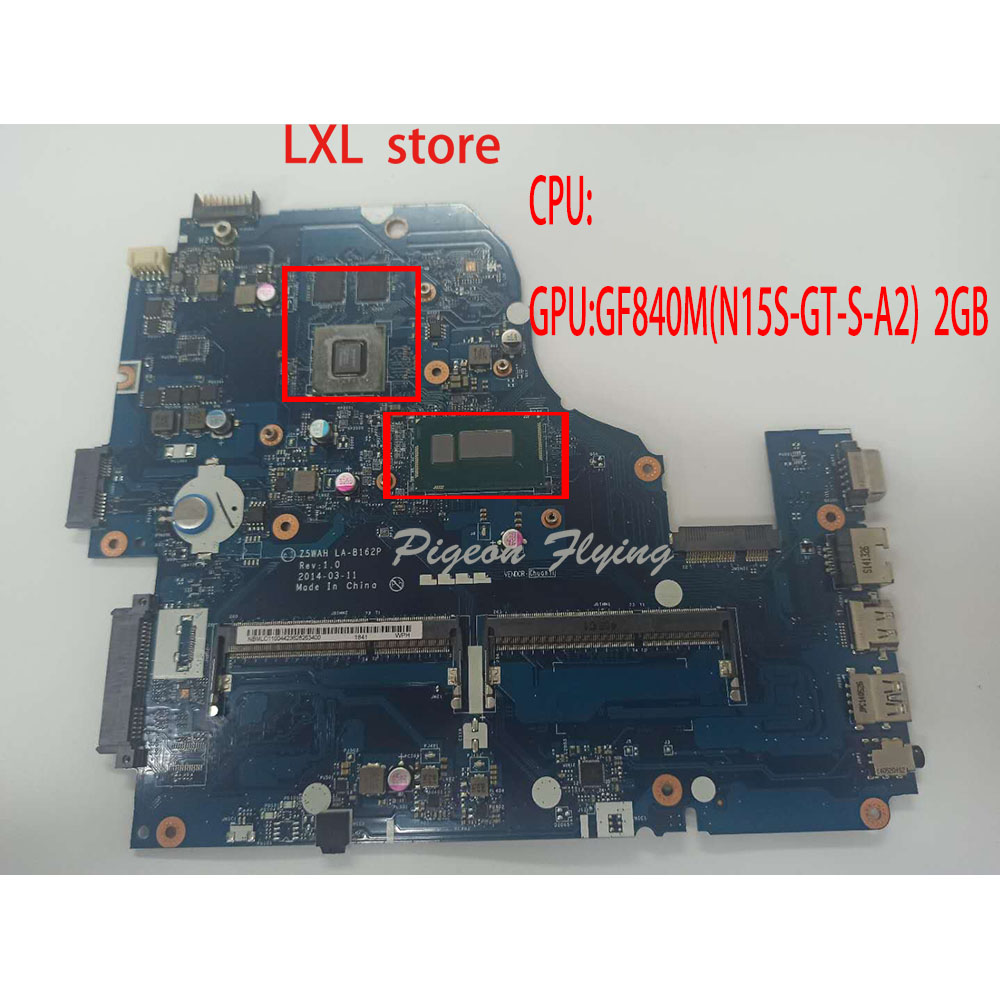 Z5WAH LA-B162P For Acer E5-571G laptop motherboard Mainboard CPU:core -i5 GPU:GF 840M 2GB DDR3 NBMLC11004423628263400 100% OK