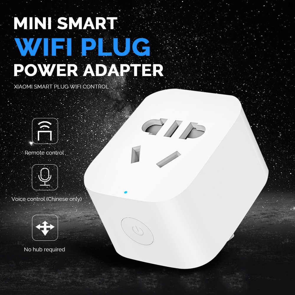 Xiaomi Smart power Plug WiFi управление Поддержка Mijia приложение дистанционное управление адаптер питания для умного дома