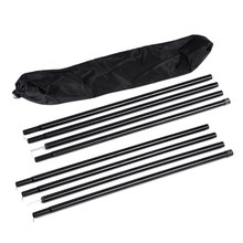 8pcs Bracket Outdoor Support Portable Black Bar Camping Awning Storage Bag Replacemet Frames Canopy Accessories Tent Poles Set(China)
