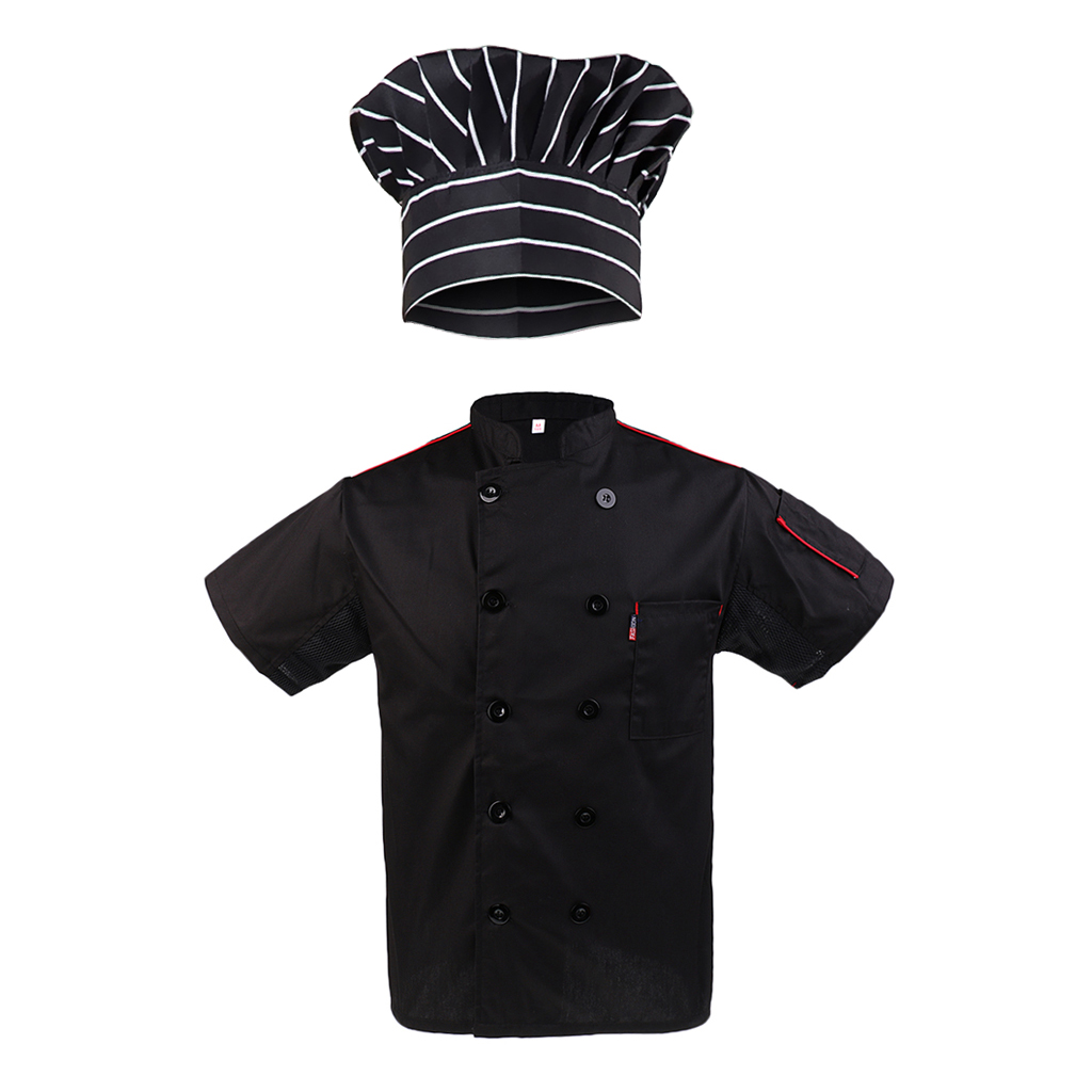 Chef Hat Five Star Chef Jacket Chefs Coat Catering Uniform For Mens Womens