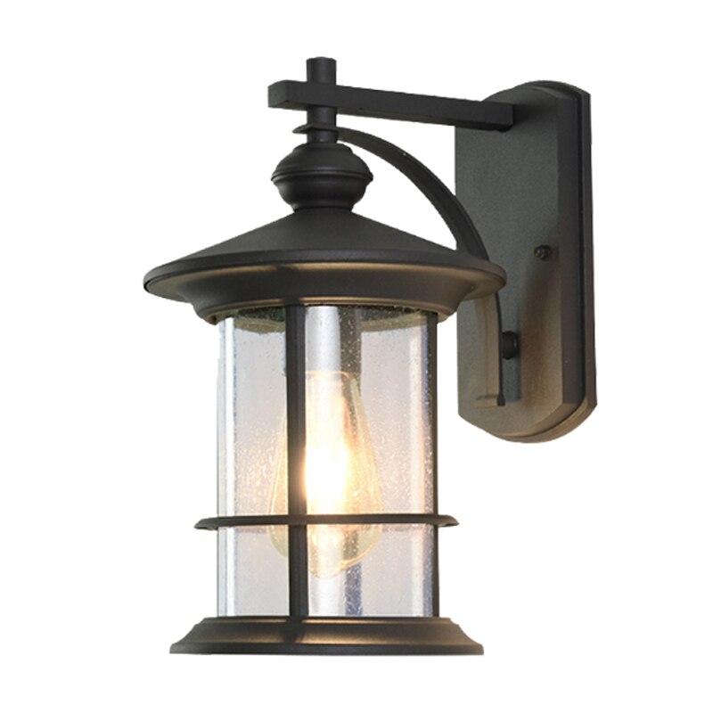 Американские Античные светильники наружные водонепроницаемые Настенные светильники прохода Наружный свет светодиодные Настенные светил