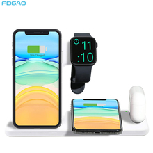 4 in 1 Wireless Charging Dock Station For Apple Watch 5 4 3 iPhone X XS XR 11 Pro 8 Airpods Pro 15W Qi Fast Charger Stand Holder