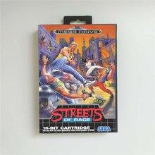 Streets Of Rage EURฝาครอบกล่อง 16 บิตการ์ดเกมสำหรับMegadrive Genesisคอนโซลวิดีโอเกม