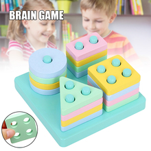 New Wooden Educational Toy For Children Interesting Diy Matching Game Creative Early Educational Assembly Toys Игрушки Для Детей