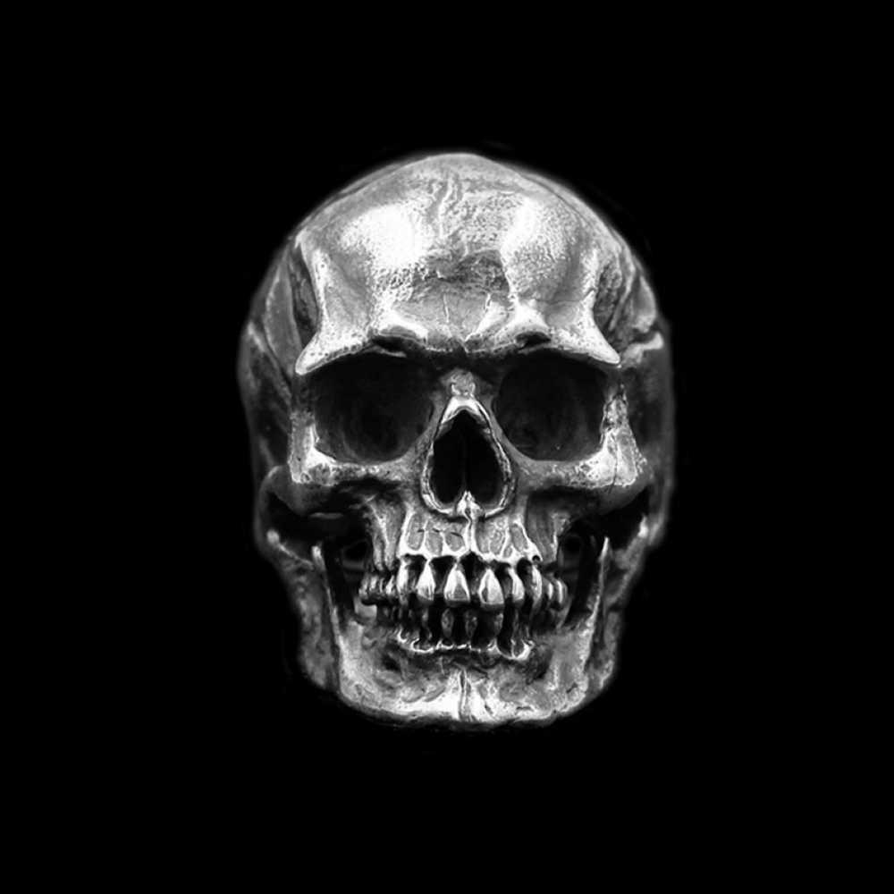 EYHIMD bague homme crâne de calvaire gothique argent 316L acier inoxydable anneau de motard bracelet de moto bijoux