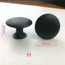 Diâmetro 30mm 20 pçs/lote PRETO Knob Pull Handle Kitchen Cabinet Hardware frete grátis-H