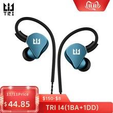 TRI I4 1BA + 1DD Hybrid in Ear سماعات أذن رياضية للركض تقنية HIFI سماعات أذن مع 3.5 مللي متر MMCX سماعات أذن