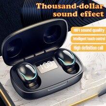 Tws sem fio bluetooth mini fones de ouvido estéreo à prova dwaterproof água esportes fones de ouvido com cancelamento de ruído in-ear microfone mãos-livres fone de ouvido