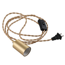 Латунный подвесной светильник с вилкой e27 патрон набором шнуров