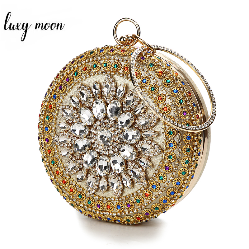Crystal Clutch Bag Evening Purse And Diamond Wedding Bridal Clutches Luxury Handbags Women Bags Designer Shoulder Bag ZD1308
