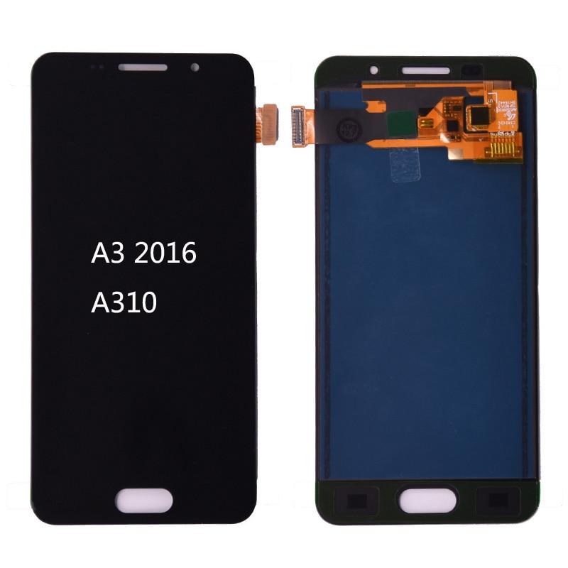 For Samsung Galaxy A3 2016 A310 lcd A310F A310H A310M A310Y LCD Display touch screen digitizer assembly adjust brightness(China)