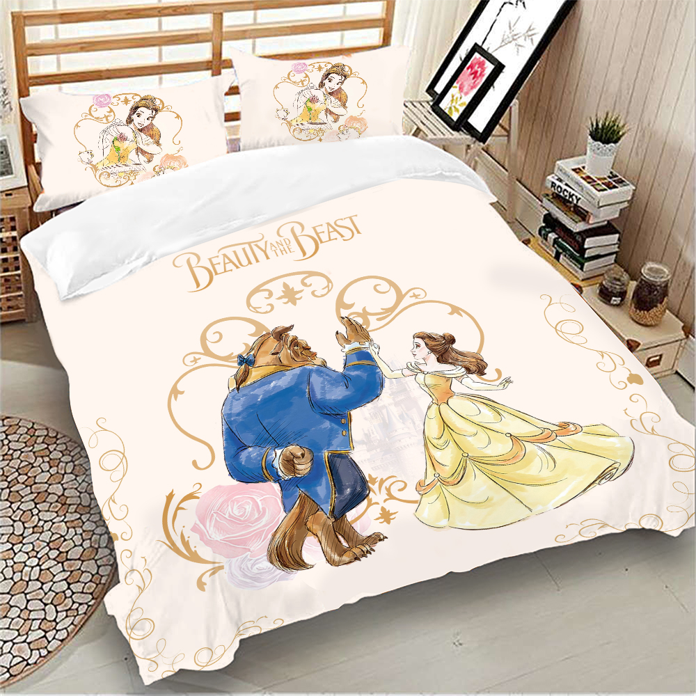 Beauty And The Beast Bedding Set Disney Queen King Size Bed Linen Twin Full Duvet Cover Pillowcases For Kid Child Adult Mega Sale Ac80f Cicig
