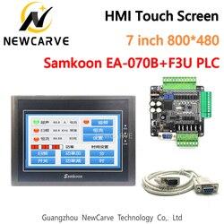 Сенсорный экран Samkoon EA-070B HMI, 7 дюймов и FX3U серия, промышленная плата управления ПЛК, RS485 с DB9