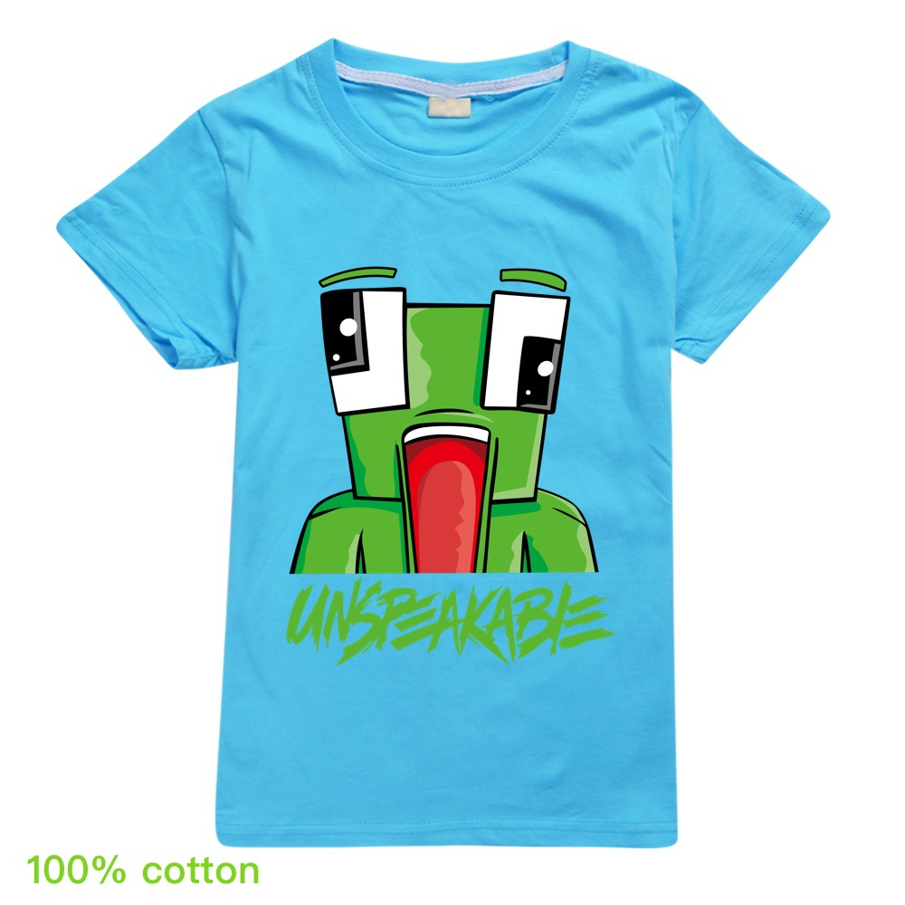 Summer Unspeakable Inspired Youtube Boys T-Shirts Gaming Kids sweatshirt T-Shirt For Girls Tops Tees Children Clothing 1