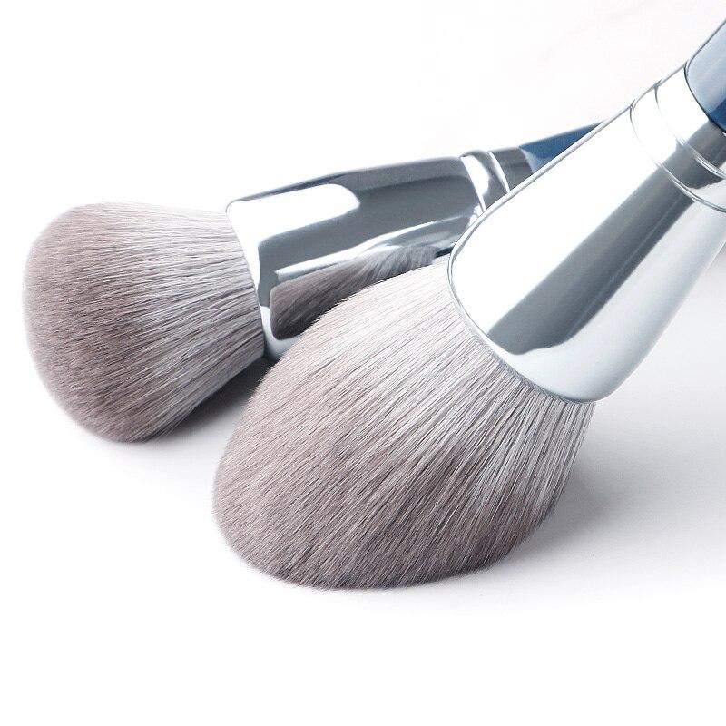 Image 2 - MyDestiny makeup brush The Sky Blue 11pcs super soft fiber makeup brushes set high quality face&eye cosmetic pens synthetic hairEye Shadow Applicator   -