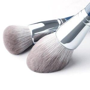 Image 2 - MyDestiny makyaj fırçası Sky Blue 11 adet süper yumuşak fiber makyaj fırçası es seti yüksek kalite yüz ve göz kozmetik kalemler sentetik saç