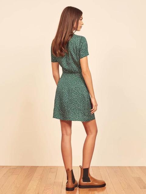 Palace Short Sleeve Women Dress Elegant Turn Down Collar Dresses Vintage Floral Print Mini Vestidos 2