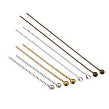200Pcs 20-50mm Alloy Head Pins Gold/Silver//Rhodium/Bronze Head Ball Pins Handmade For Jewelry Findings Making DIY Ball Needles(China)